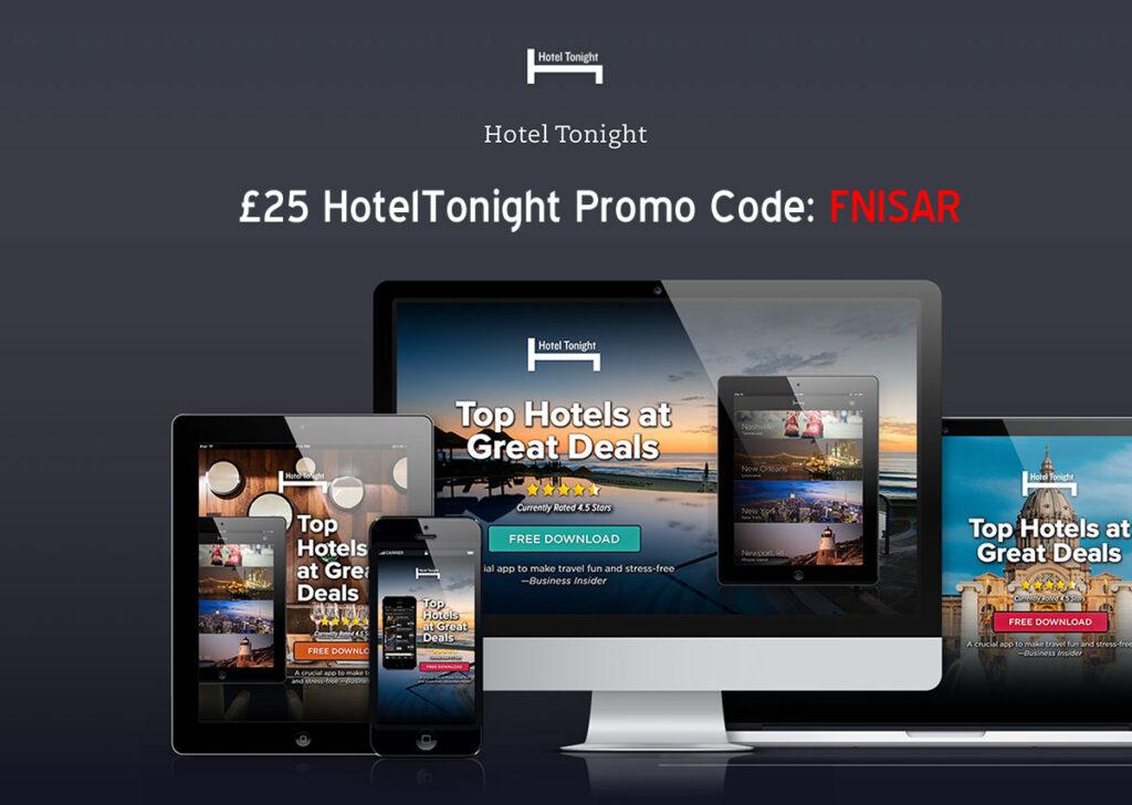 HotelTonight Promo code: FNISAR